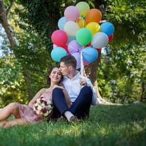 Sedinta foto cu baloane heliu