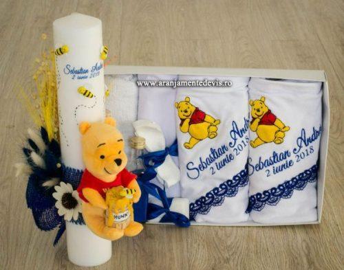 Lumanare de botez si trusou Winnie
