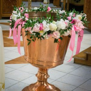 Decor cristelnita flori naturale fata