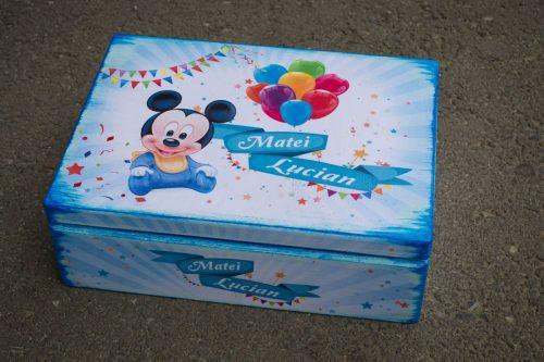 Cufar lemn trusou botez Mickey