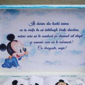 cutie lemn trusou Mickey