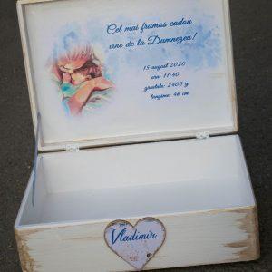 Cutie lemn personalizata