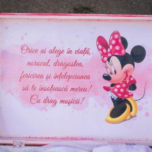 Cutie lemn trusou Minnie Mouse