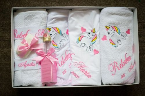 Trusou botez fetita unicorn
