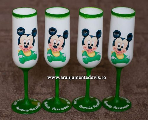 Pahare decorate manual mickey