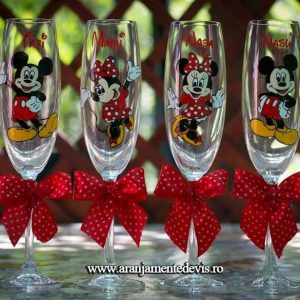 Pahare Pictate manual Mickey si Minnie Mouse