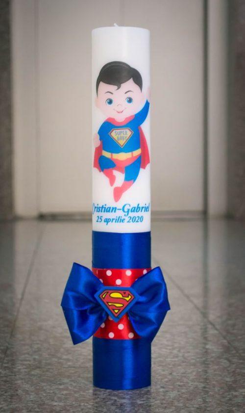 Lumanare botez cu Superman