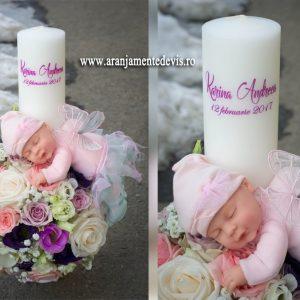 Lumnare botez fata cu papusa