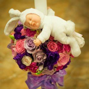 Lumanari botez flori naturale