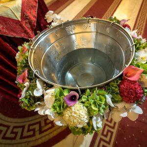 Aranjament cristelnita flori verzi