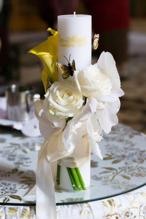 Lumanare-botez-cale-trandafiri-orhidee