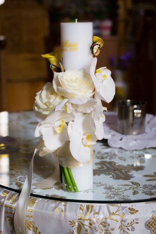 Lumanare-botez-orhidee-alba