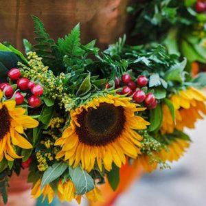 aranjament -decor-cristelnita-floarea-soarelui