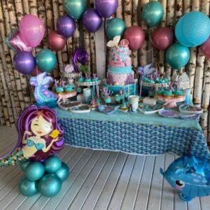 Aranjamente-Decor-baloane-mica-sirena-botez-petrecere-tematica-mare-baloane-scoici-aranjamente-baloane