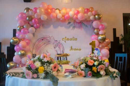 arcada-baloane-botez-petrecere-anivarsare-unicorn