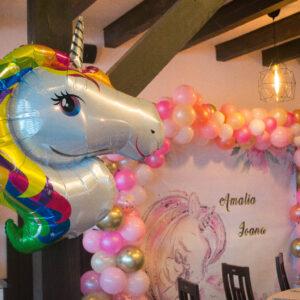 arcada-de-baloane-botez-petrecere-anivarsare-unicorn