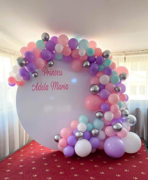panou-arcada-baloane-decor-baloane-botez-petrecere-fetita