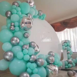 arcada-baloane-decor-panou-argintiu-menta