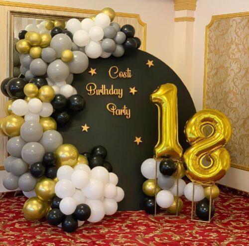 decor-baloane-majorat-baloane-aurii-negre-aurii