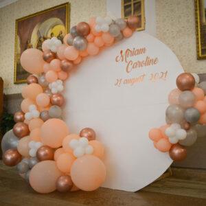 decor-cu-baloane-rose-gold